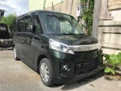 沖縄の中古車 スズキ スペーシアカスタム 車両価格 74万円 リ済込 平成25年 7.6万K DグリーンM