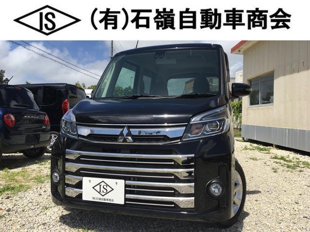沖縄の中古車 三菱 eKスペースカスタム 車両価格 99万円 リ済込 2018(平成30)年 1.9万km ブラック
