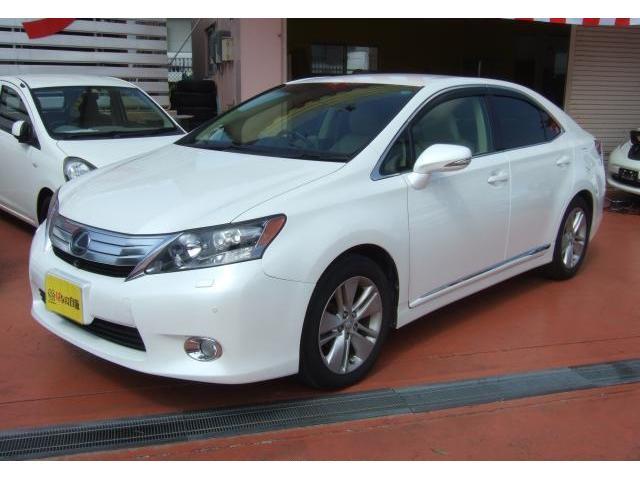 沖縄の中古車 レクサス HS 車両価格 95万円 リ済込 2011(平成23)年 8.0万km ホワイトパールクリスタルシャイン