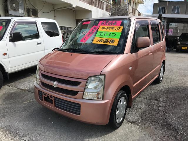 沖縄の中古車 スズキ ワゴンR 車両価格 17万円 リ済込 2008(平成20)年 10.5万km ピンク