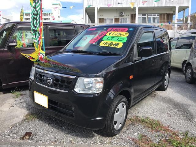 沖縄の中古車 日産 オッティ 車両価格 23万円 リ済込 2009(平成21)年 12.3万km ブラック