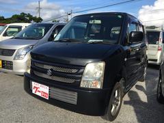 沖縄の中古車 スズキ ワゴンR 車両価格 24万円 リ済込 平成19年 11.4万K ブルーイッシュブラックパール3