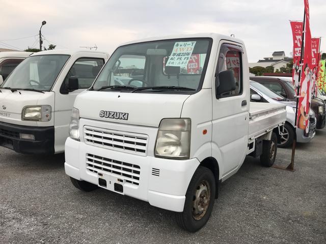 沖縄の中古車 スズキ キャリイトラック 車両価格 44万円 リ済込 平成20年 12.3万km ホワイト