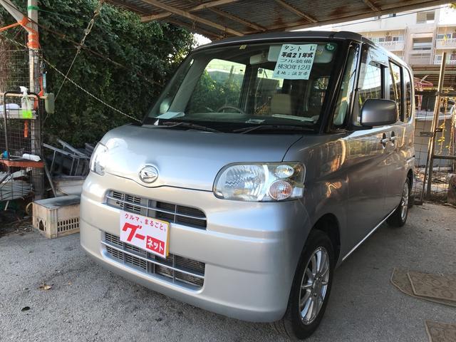 沖縄の中古車 ダイハツ タント 車両価格 37万円 リ済込 平成21年 14.7万km ブライトシルバーメタリック