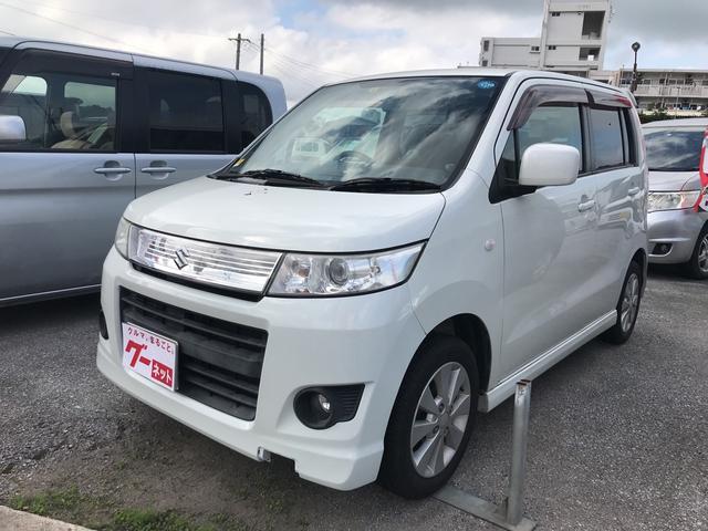 沖縄の中古車 スズキ ワゴンRスティングレー 車両価格 45万円 リ済込 平成21年 12.2万km パールホワイト