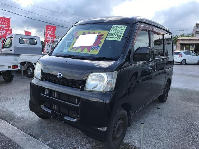 沖縄の中古車 ダイハツ ハイゼットカーゴ 車両価格 39万円 リ済込 平成19年 9.0万km ブラック