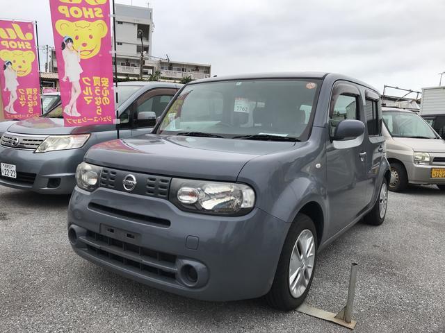 沖縄の中古車 日産 キューブ 車両価格 35万円 リ済込 平成22年 11.6万km グレー