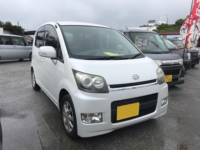 沖縄の中古車 ダイハツ ムーヴ 車両価格 35万円 リ済込 平成19年 9.9万km パールホワイト