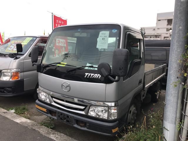 沖縄の中古車 マツダ タイタントラック 車両価格 45万円 リ済込 平成12年 19.2万km シルバー