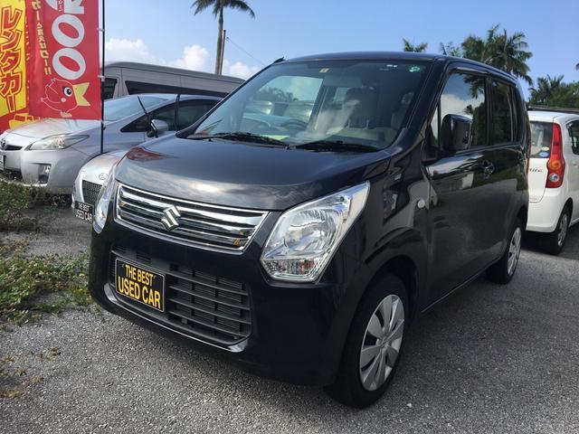 沖縄の中古車 スズキ ワゴンR 車両価格 64万円 リ済込 2013(平成25)年 3.0万km ブラック