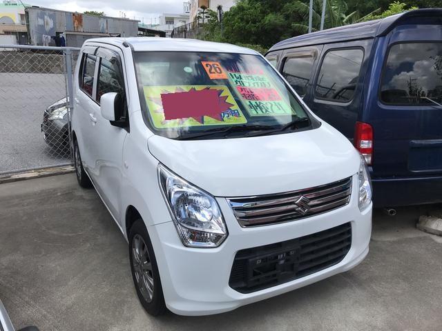 沖縄の中古車 スズキ ワゴンR 車両価格 56万円 リ済込 平成26年 5.9万km ホワイト