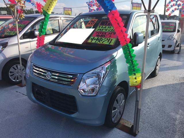 沖縄の中古車 スズキ ワゴンR 車両価格 62万円 リ済込 平成26年 6.1万km ライトブルー