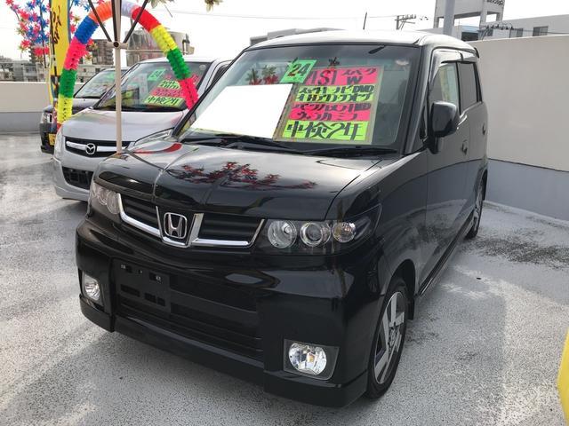 沖縄の中古車 ホンダ ゼストスパーク 車両価格 61万円 リ済込 平成24年 5.8万km ナイトホークブラックパール