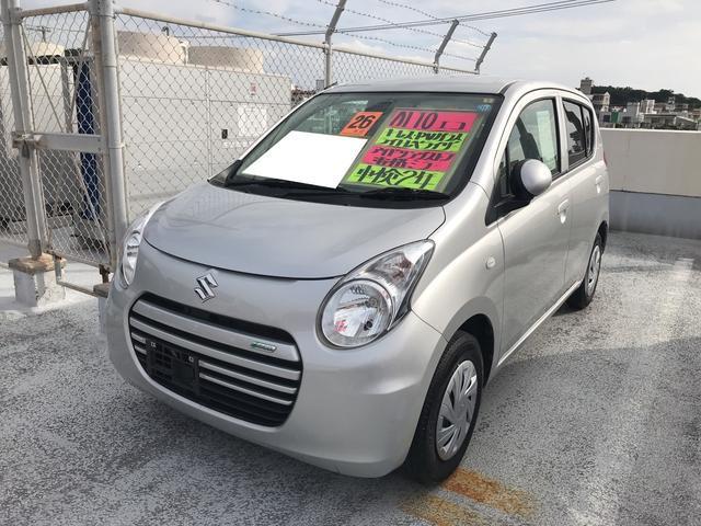 沖縄の中古車 スズキ アルトエコ 車両価格 47万円 リ済込 平成26年 5.6万km シルキーシルバーメタリック