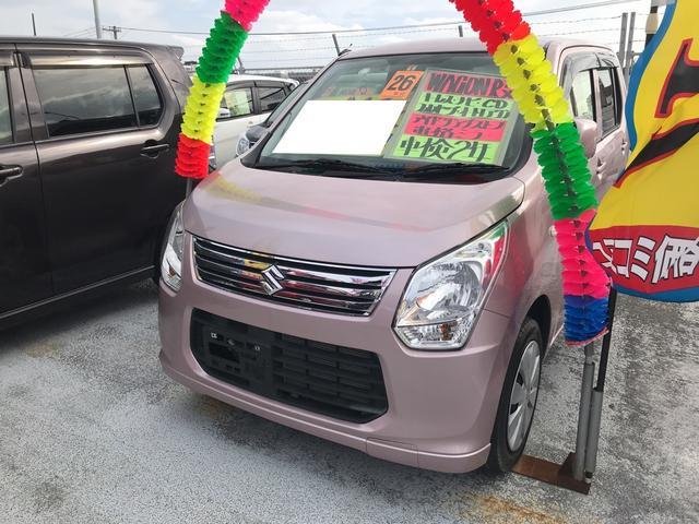 沖縄の中古車 スズキ ワゴンR 車両価格 67万円 リ済込 平成26年 3.5万km ピンク