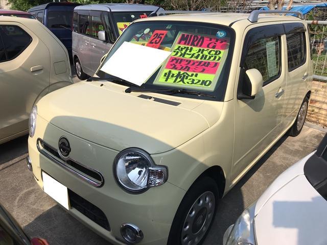沖縄の中古車 ダイハツ ミラココア 車両価格 73万円 リ済込 平成25年 6.3万km コットンアイボリー