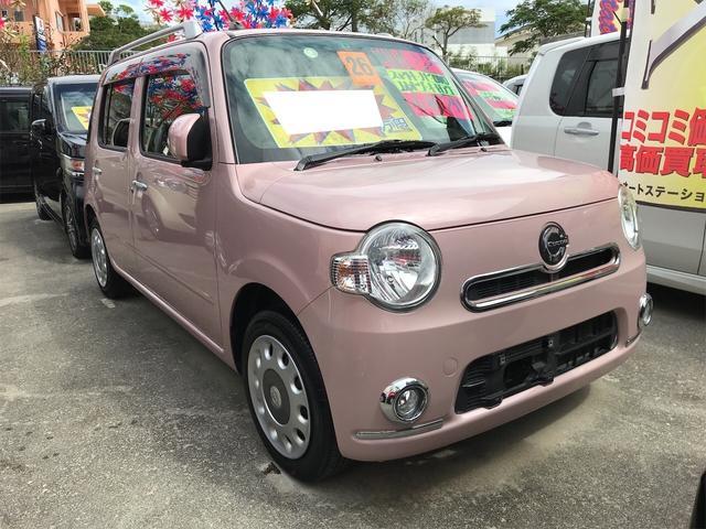 沖縄県の中古車ならミラココア ココアプラスX TV ナビ 軽自動車 ムースピンクパール