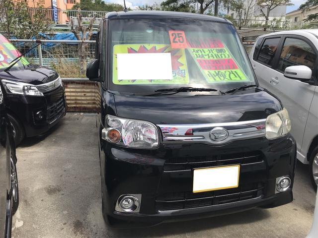 沖縄の中古車 ダイハツ タント 車両価格 61万円 リ済込 2013(平成25)年 7.5万km ブラックマイカメタリック