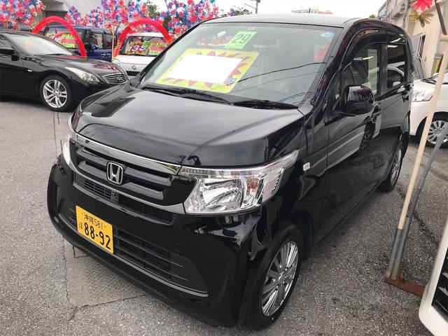 沖縄の中古車 ホンダ N-WGN 車両価格 81万円 リ済込 2017(平成29)年 1.6万km クリスタルブラックパール
