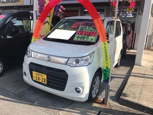 沖縄の中古車 スズキ ワゴンRスティングレー 車両価格 60万円 リ済込 2013(平成25)年 8.1万km パールホワイト