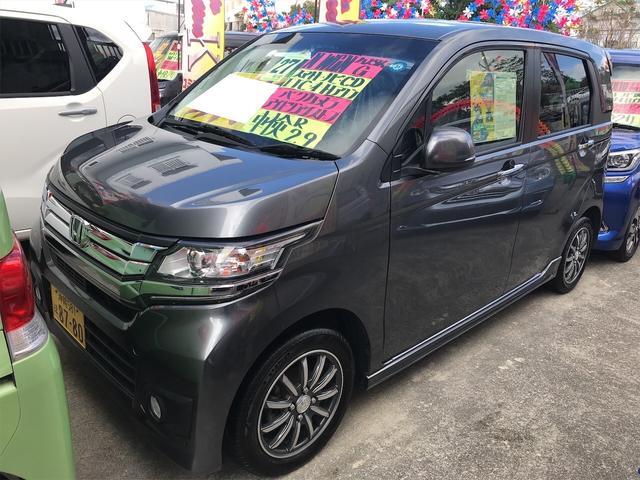沖縄の中古車 ホンダ N-WGNカスタム 車両価格 87万円 リ済込 2015(平成27)年 4.9万km ポリッシュドメタルメタリック