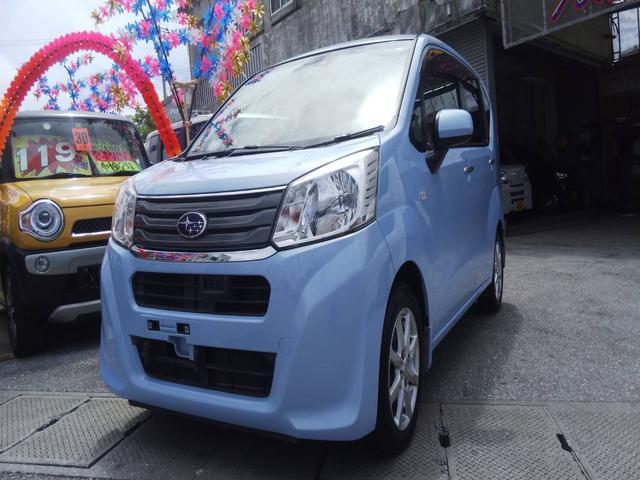 沖縄の中古車 スバル ステラ 車両価格 61万円 リ済込 2015(平成27)年 7.4万km シルキーブルーパール