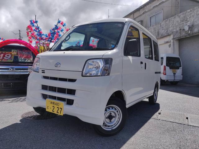沖縄の中古車 ダイハツ ハイゼットカーゴ 車両価格 55万円 リ済込 2015(平成27)年 8.6万km ホワイト