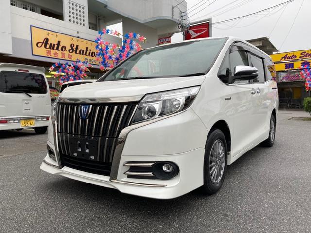 沖縄県糸満市の中古車ならエスクァイア ハイブリッドGi ブラックテーラード プリクラ バックモニター 両側パワースライドドア シートヒーター