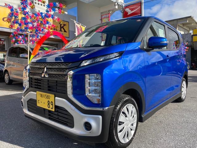 沖縄県の中古車ならeKクロス M シートヒータ ABS WエアB スマートキー アイドリングストップ 衝突軽減ブレーキシステム