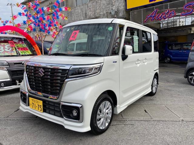 沖縄県糸満市の中古車ならスペーシアカスタム ハイブリッドGS S-エネチャージ オートエアコン コーナーセンサー