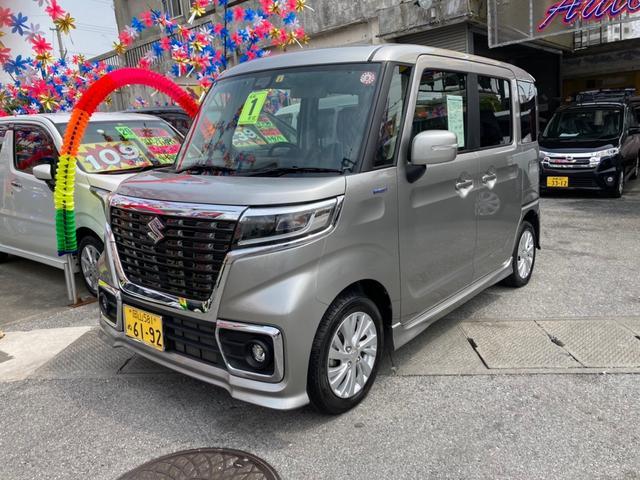 沖縄県の中古車ならスペーシアカスタム ハイブリッドGS S-エネチャージ オートエアコン ETC コーナーセンサー スマートキー