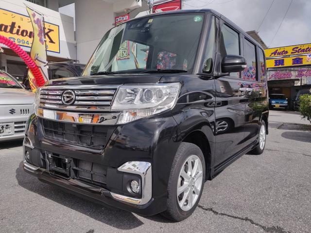 沖縄県の中古車ならタント カスタムX SAIII オートエアコン ETC シートヒーター ベンチシート ナビ オートマチックハイビーム