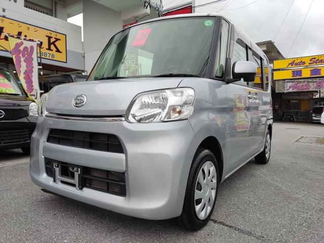 沖縄の中古車 ダイハツ タント 車両価格 61万円 リ済込 2016(平成28)年 8.5万km ブライトシルバーメタリック