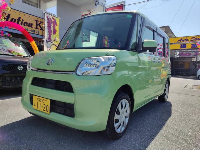 沖縄県糸満市の中古車ならタント X ETC バックカメラ 両側スライド・片側電動 ナビ オートライト Bluetooth ミュージックプレイヤー接続可 USB DVD再生 CD スマートキー アイドリングストップ ベンチシート CVT