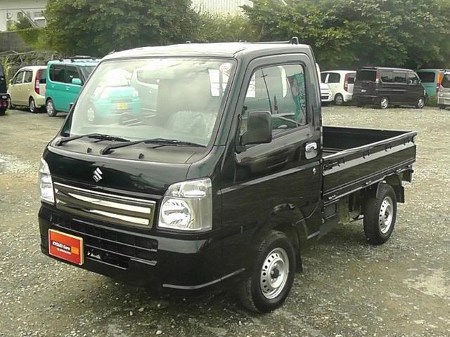 沖縄の中古車 スズキ キャリイトラック 車両価格 71万円 リ済込 平成29年 0.8万km ブラック