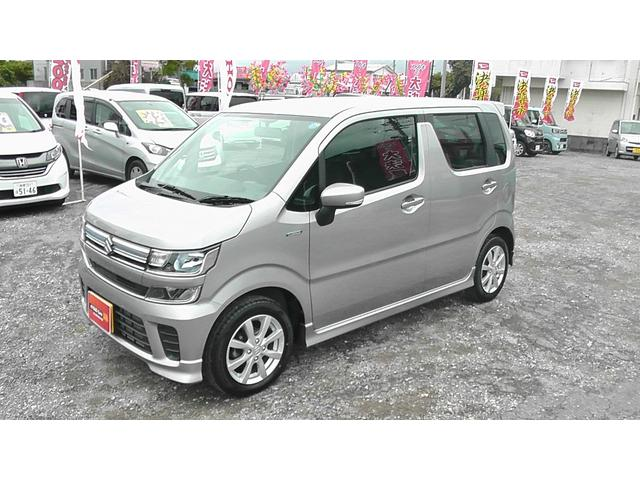沖縄の中古車 スズキ ワゴンR 車両価格 109万円 リ済込 平成30年 0.9万km シルキーシルバー