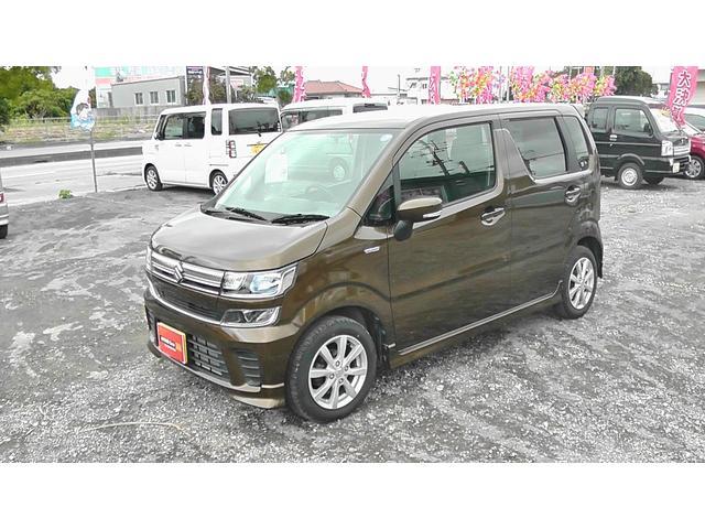 沖縄の中古車 スズキ ワゴンR 車両価格 110万円 リ済込 平成30年 0.8万km ブレイブカーキーパール