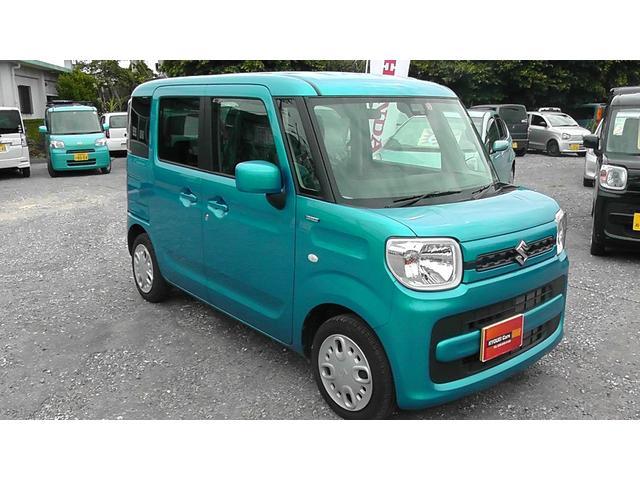 沖縄の中古車 スズキ スペーシア 車両価格 115万円 リ済込 平成30年 0.6万km ブルーM