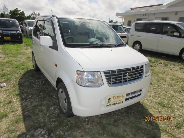 沖縄の中古車 三菱 eKワゴン 車両価格 28万円 リ済込 2012(平成24)年 4.6万km ホワイトソリッド