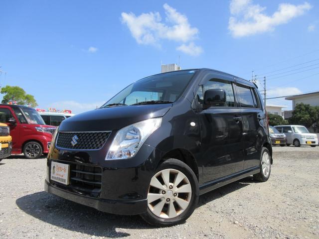沖縄の中古車 スズキ ワゴンR 車両価格 23万円 リ済込 2009(平成21)年 11.5万km ブラック