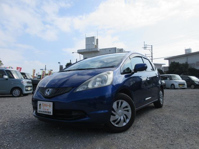 沖縄の中古車 ホンダ フィット 車両価格 27万円 リ済込 2010(平成22)年 8.5万km ダークブルー
