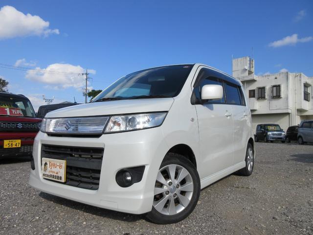 沖縄の中古車 スズキ ワゴンRスティングレー 車両価格 45万円 リ済込 2009(平成21)年 6.9万km パールホワイト