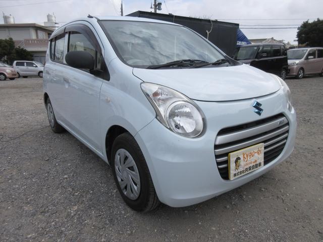 沖縄の中古車 スズキ アルトエコ 車両価格 27万円 リ済込 2013(平成25)年 7.9万km リーフホワイト