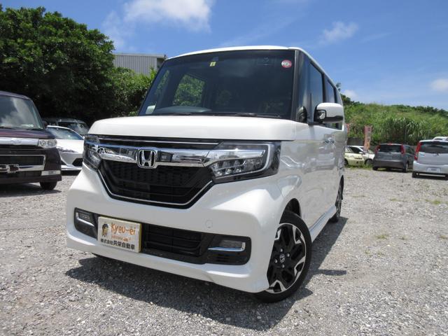 沖縄県糸満市の中古車ならN-BOXカスタム G・Lターボホンダセンシング