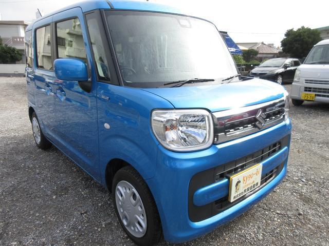 沖縄の中古車 スズキ スペーシア 車両価格 140万円 リ済込 2020(令和2)年 0.7万km ブリスクブルーメタリック