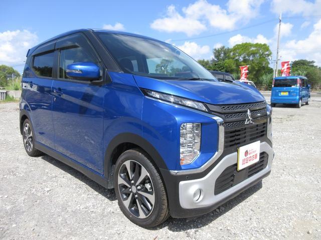 沖縄の中古車 三菱 eKクロス 車両価格 162万円 リ済込 2021(令和3)年 20km ブルー