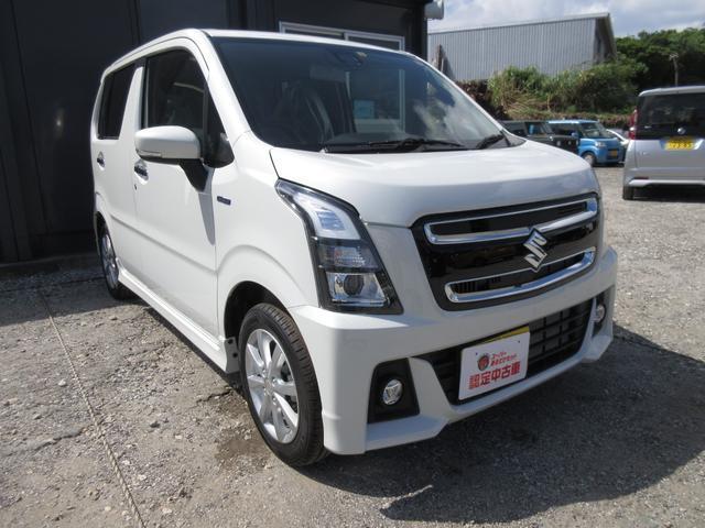 沖縄の中古車 スズキ ワゴンRスティングレー 車両価格 145万円 リ済込 2021(令和3)年 10km ピュアホワイトパール