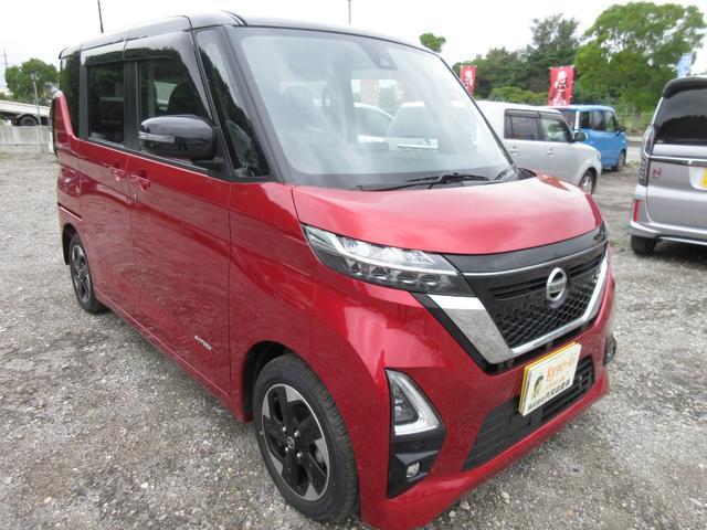 沖縄の中古車 日産 ルークス 車両価格 177万円 リ済込 2020(令和2)年 30km スパークリングレッドPMII