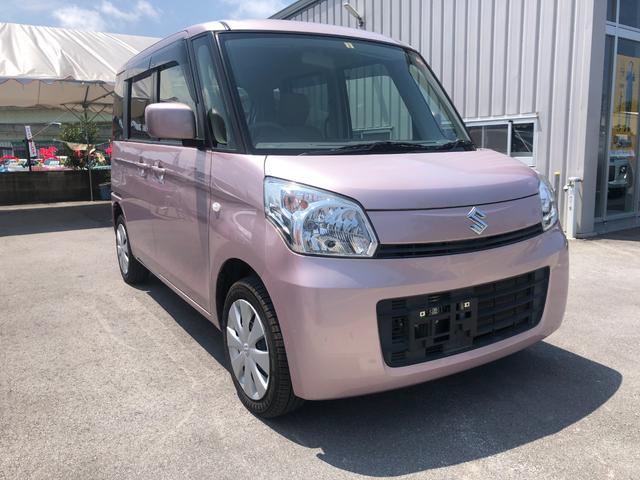 沖縄の中古車 スズキ スペーシア 車両価格 54万円 リ済込 2013(平成25)年 7.1万km ピンクM
