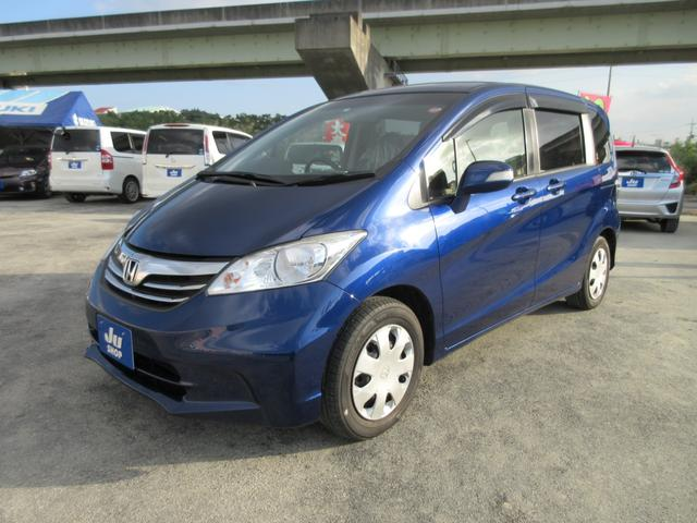 沖縄の中古車 ホンダ フリード 車両価格 88万円 リ済込 2013(平成25)年 8.1万km ブルー